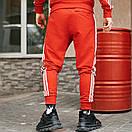 Спортивні чоловічі штани в стилі Adidas Originals червоні, фото 2