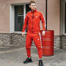 Спортивні чоловічі штани в стилі Adidas Originals червоні, фото 10