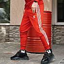 Спортивні чоловічі штани в стилі Adidas Originals червоні, фото 6