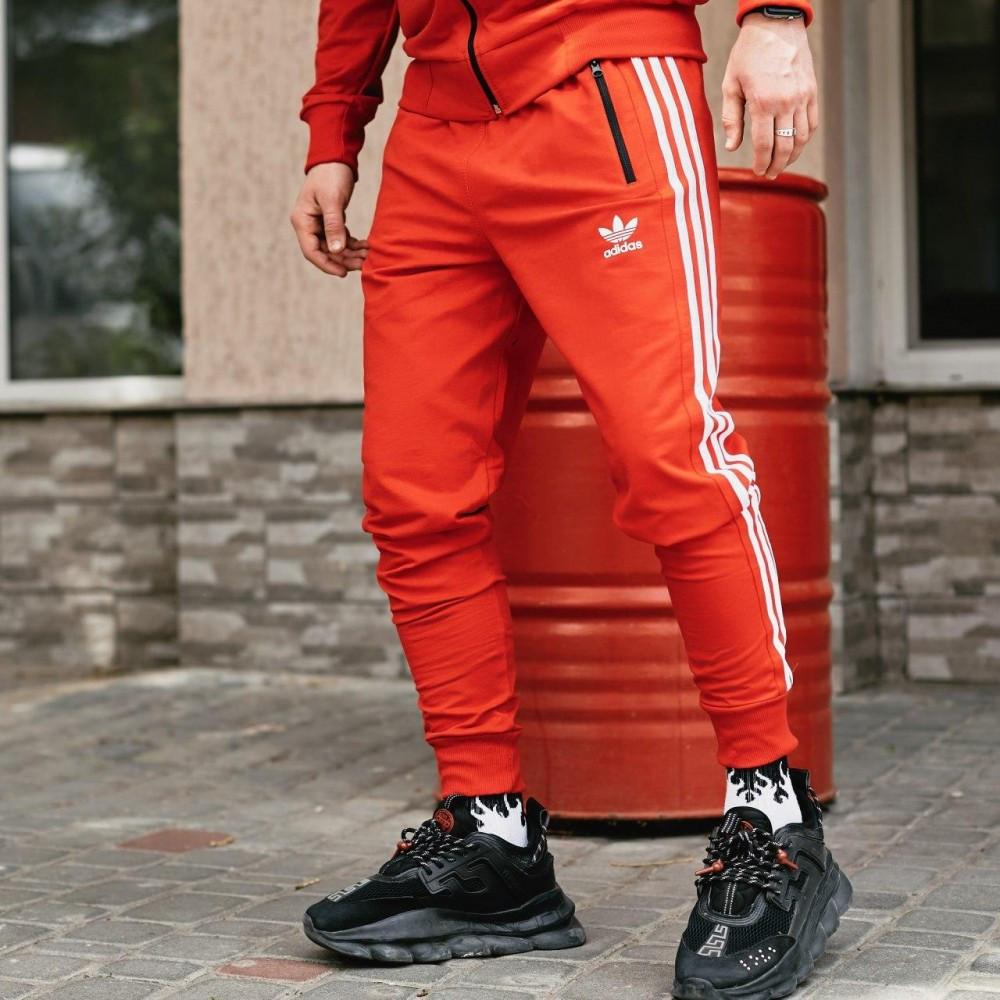 Спортивні чоловічі штани в стилі Adidas Originals червоні
