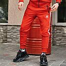 Спортивні чоловічі штани в стилі Adidas Originals червоні, фото 3