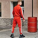 Спортивні чоловічі штани в стилі Adidas Originals червоні, фото 7