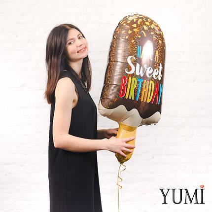 Фольгированный шарик на День Рождения Мороженое, фото 2