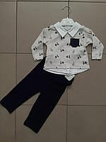 Костюм для мальчика штанишки+кофточка.2 расцветки Новинка 2020, фото 1