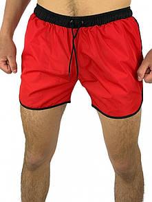 Шорти чоловічі пляжні Intruder червоні з чорним