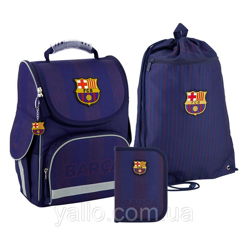 Школьный набор Kite Education FC Barcelona рюкзак пенал сумка SET_BC20-501S