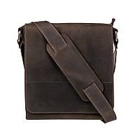 Мужская кожаная сумка через плечо KAFA 0021 коричневый