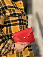 Сумка клатч женская модная на пояс маленькая из экокожи красная, фото 1