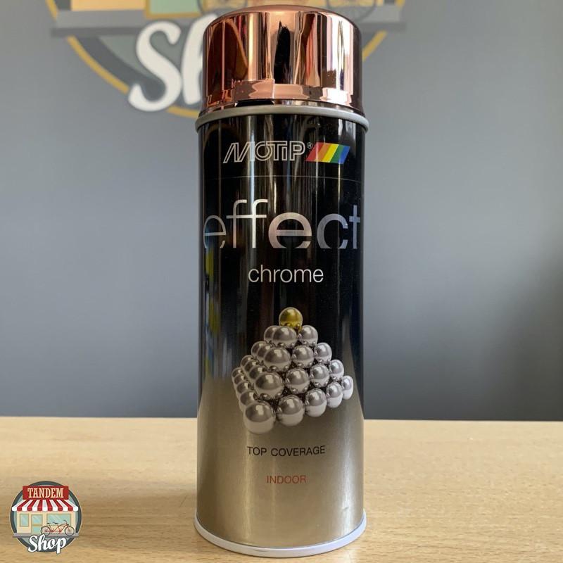 Краска (эмаль) декоративная с эффектом хром Motip Deco Effect, 400 мл Аэрозоль Медь