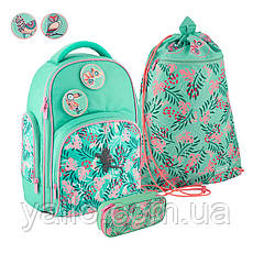 Школьный набор Kite Education Tropical рюкзак пенал сумка SET_K20-706M-5