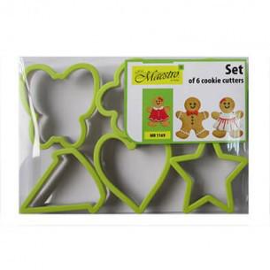 Набор форм для выпечки печенья 6шт пластик