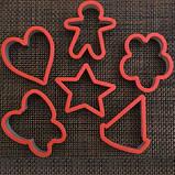 Набор форм для выпечки печенья 6шт пластик, фото 2