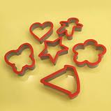 Набор форм для выпечки печенья 6шт пластик, фото 3