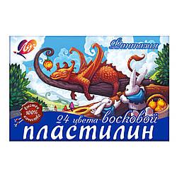 """Пластилин Луч """"Фантазия"""" 24 цв. 25С1525-08, со стеком"""