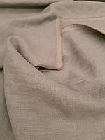 """Льняная плотная костюмная ткань """"Медиум Тауп"""" с """"эффектом помятости"""", фото 1"""