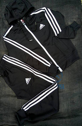 Подростковый спортивный костюм Adidas.Ткань-Лакоста, фото 2