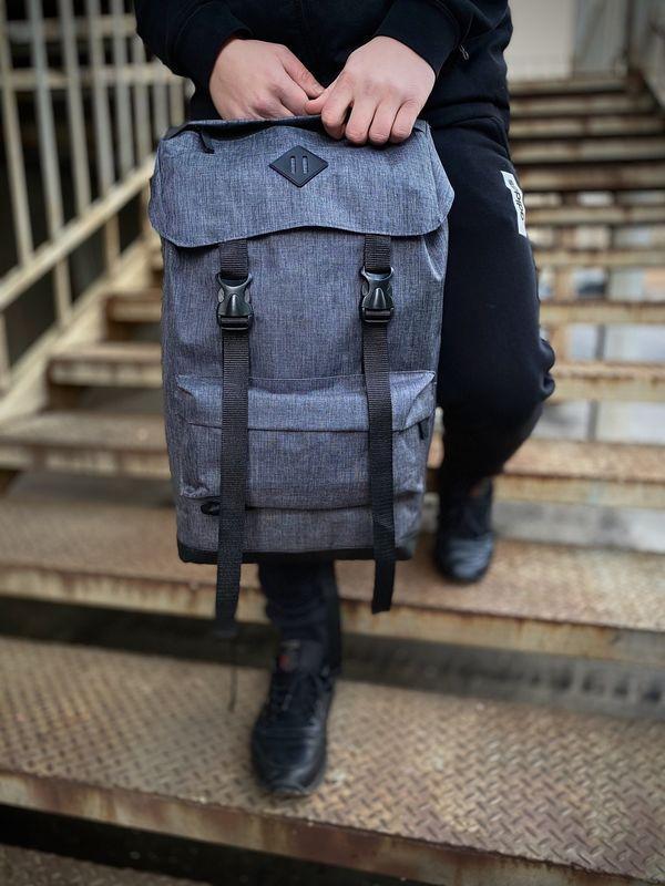 Рюкзак для парней Intruder Camping. Цвет: серый меланж