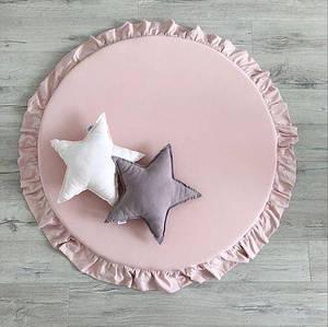 Коврик для детской комнаты с рюшами Розовый