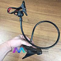 Универсальный держатель для телефона в машину на стол подставка крепление смартфона автомобиль гибкий прищепка, фото 1