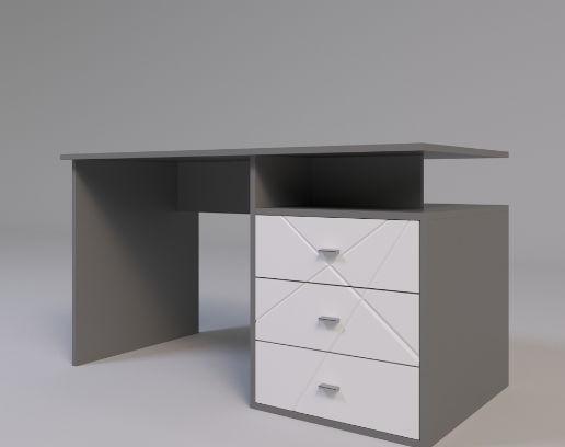 Стол письменный Х-Скаут - 06 (правый) (Белый мат)