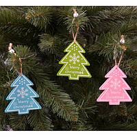 Новорічна підвіска на ялинку NG277, 10 * 8 см, MDF, Новорічні сувеніри, Прикраси новорічні, Іграшки на ялинку