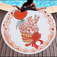 Пляжный круг покрывало •Пирожное• РАСПРОДАЖА!