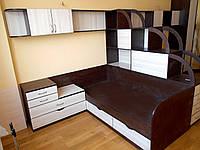 Детская дизайнерская мебель на заказ - две односпальные детские кровати стол тумба шкаф. Изготовление