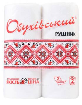 Полотенце бумажное Обуховское рулон (уп. 2 шт)