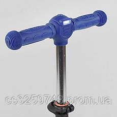Самокат детский трехколесный складной с фонариком Best Scooter 13909 Синий, фото 2