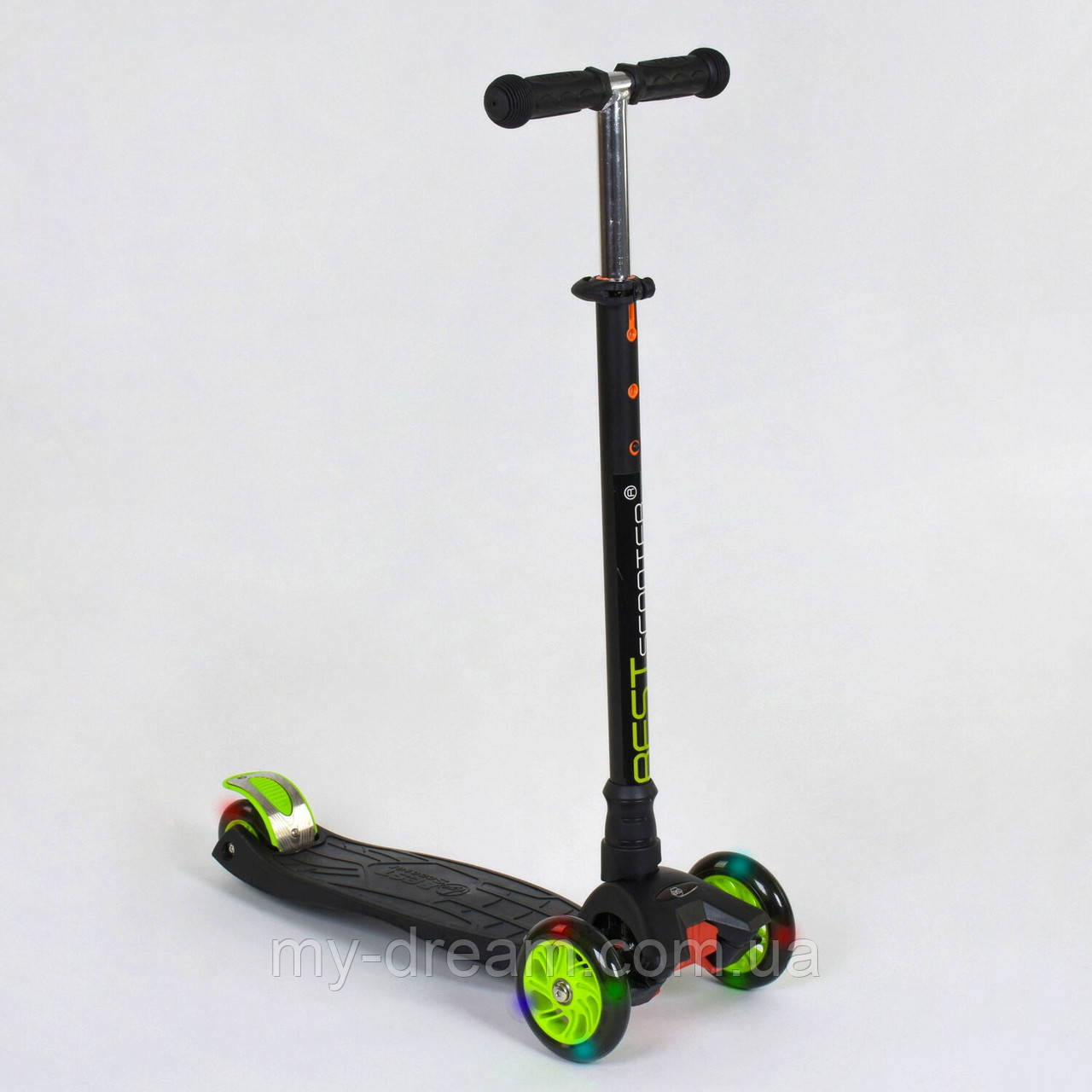 Самокат триколісний Best Scooter Maxi 466-113 / А 24144 Чорний