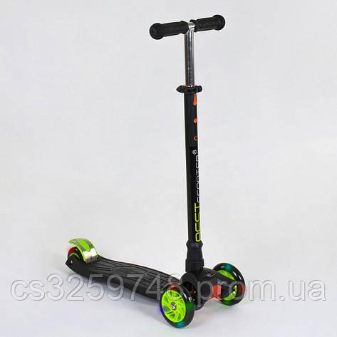 Самокат триколісний Best Scooter Maxi 466-113 / А 24144 Чорний, фото 2