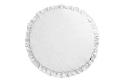 Коврик для детской комнаты с рюшами Белый