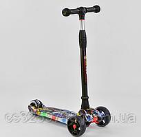 Самокат трехколесный Best Scooter UL - 34822 S, 4 колеса PU со светом, свет платформы