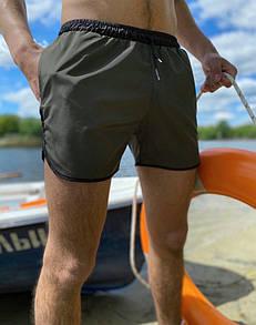 Шорты мужские пляжные Intruder хаки с черным