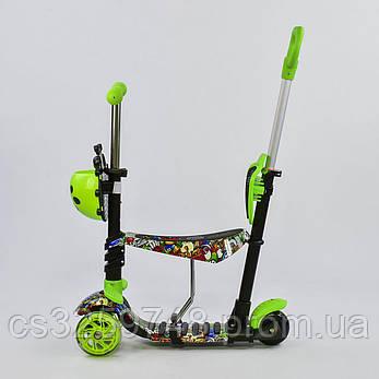 """Самокат Best Scooter 5 в 1 """"Абстракция"""" 97630 подсветка колес, фото 2"""