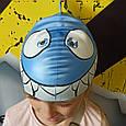 Шапочка для плавания детская/подростковая Zoggs Junior Silicone Character Cap акула, фото 4