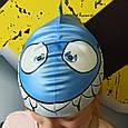 Шапочка для плавания детская/подростковая Zoggs Junior Silicone Character Cap акула, фото 2