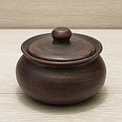 Солонка глиняна з кришкою V=250мл