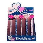 """Ручка YES шарико-масляная """"Big Heart""""  автоматическая 0,7мм , синяя, 2 диз, фото 2"""