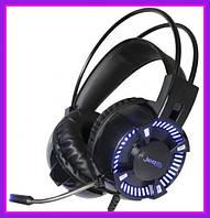 Игровые Геймерские Наушники JEDEL GH160 проводные с микрофоном и подсветкой