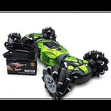 Машинка-багги CHAMPION 2866, машинка перевертыш, вездеход, управление от руки, код 2866 Зеленый, фото 4