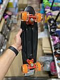 Скейт Penny Board, с широкими светящимися колесами Пенни борд, пенниборд детский , от 4 лет, расцветка Череп, фото 2