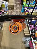 Скейт Penny Board, с широкими светящимися колесами Пенни борд, пенниборд детский , от 4 лет, расцветка Череп, фото 3