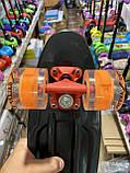 Скейт Penny Board, с широкими светящимися колесами Пенни борд, пенниборд детский , от 4 лет, расцветка Череп, фото 4