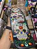 Скейт Penny Board, с широкими светящимися колесами Пенни борд, пенниборд детский , от 4 лет, расцветка Череп, фото 5