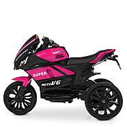 Детский электромотоцикл Bambi Racer M 4135EL-8, фото 4