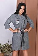 Женское платье на змейке большие размеры костюмный коттон лампар  размеры 50-52,54-56,58-60,62-64, фото 1