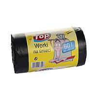 Пакет для мусора MIX WORKI с ушами 60*80 60л 100шт. черный