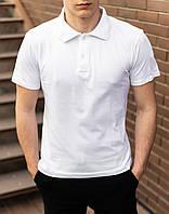 Белая мужская футболка поло / купить рубашку поло