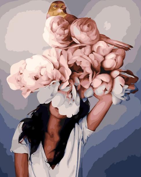 Картина по номерам Девушка с цветами Эми Джадд, цветной холст, 40*50 см, без коробки Barvi